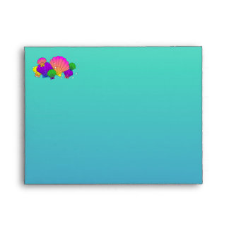 Caribbean Sea Shells with Bubbles Envelope