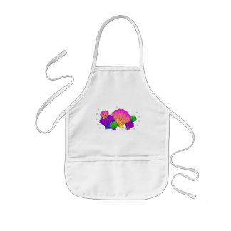 Caribbean Sea Shells with Bubbles Kids' Apron