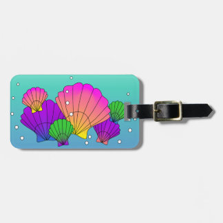 Caribbean Sea Shells with Bubbles Luggage Tag
