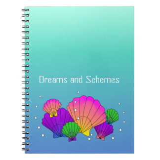 Caribbean Sea Shells with Bubbles Notebook