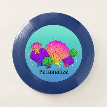 Beach Themed Caribbean Sea Shells with Bubbles Wham-O Frisbee