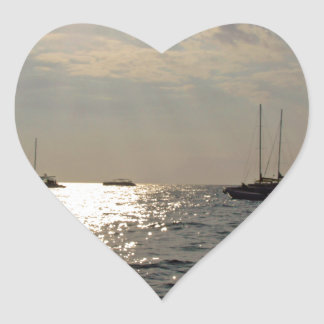 caribbean sea heart sticker