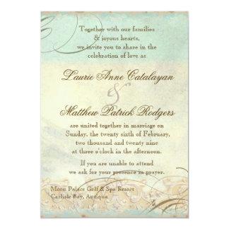 Caribbean Sea Turtle Modern Coastal Ocean Beach 5x7 Paper Invitation Card