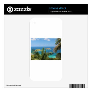 Caribbean Sea with palms iPhone 4 Skins