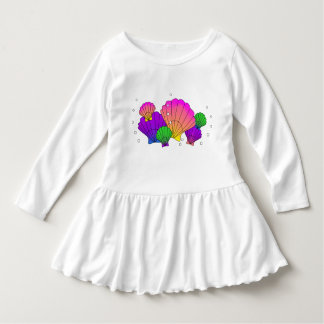 Caribbean Seashells Ruffle Dress Tee Shirts