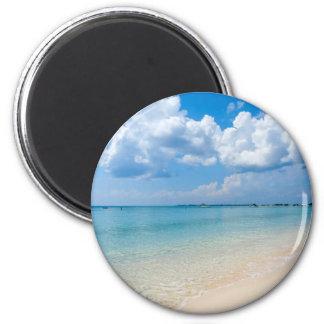 Caribbean - Seven Mile Beach - Cayman Islands 2 Inch Round Magnet