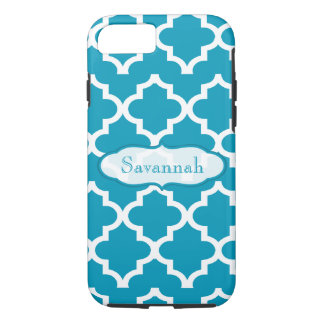Caribbean Sky Blue Moroccan Personalized iPhone iPhone 8/7 Case