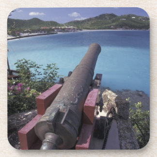 CARIBBEAN, St. Barts, Connon aiming into Bay of Drink Coaster
