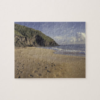 Caribbean, St. Kitts. Footprints on Atlantic Jigsaw Puzzle