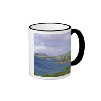 Caribbean, St. Kitts, Roseau. Coast. Ringer Coffee Mug