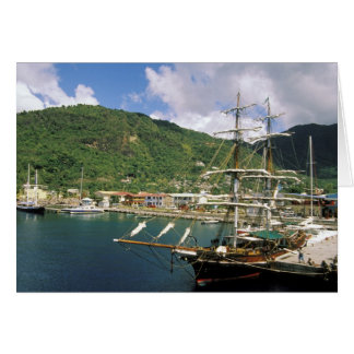 Caribbean, St. Lucia, Soufriere. Boats in Card