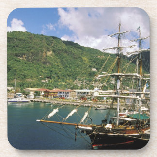 Caribbean, St. Lucia, Soufriere. Boats in Beverage Coasters