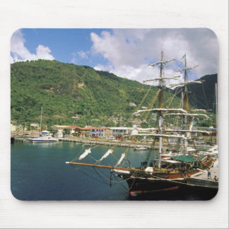 Caribbean, St. Lucia, Soufriere. Boats in Mousepad