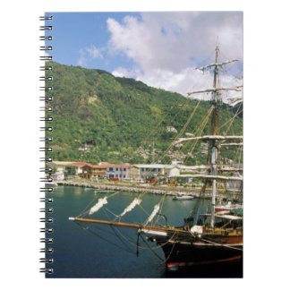 Caribbean, St. Lucia, Soufriere. Boats in Spiral Notebook