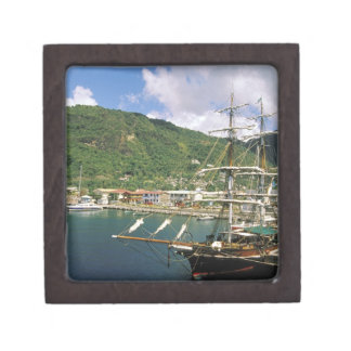 Caribbean, St. Lucia, Soufriere. Boats in Premium Jewelry Box