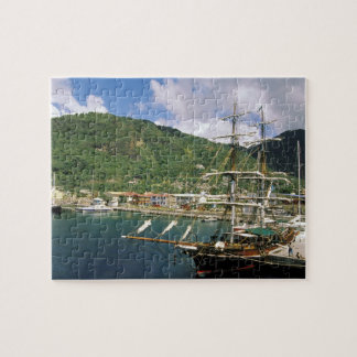 Caribbean, St. Lucia, Soufriere. Boats in Puzzle