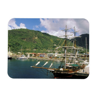 Caribbean, St. Lucia, Soufriere. Boats in Rectangular Photo Magnet