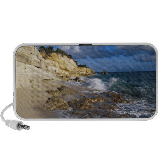 Caribbean, St. Martin, Cliffs at Cupecoy beach iPhone Speaker
