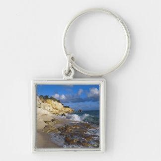 Caribbean, St. Martin, Cliffs at Cupecoy beach Key Chains