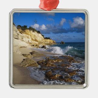 Caribbean, St. Martin, Cliffs at Cupecoy beach Metal Ornament