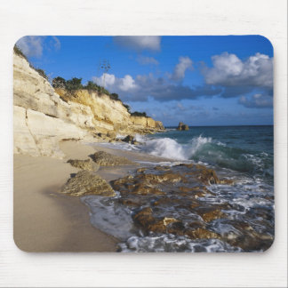 Caribbean, St. Martin, Cliffs at Cupecoy beach Mouse Pad