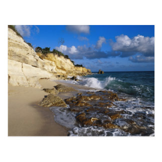 Caribbean, St. Martin, Cliffs at Cupecoy beach Postcard