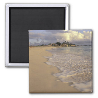 Caribbean, St. Martin (St. Maarten). Maho Bay 2 Inch Square Magnet