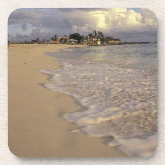 Caribbean, St. Martin (St. Maarten). Maho Bay Beverage Coaster