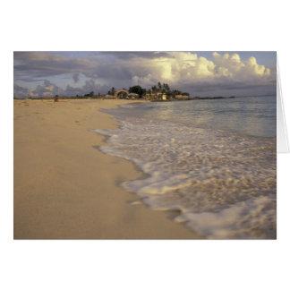 Caribbean, St. Martin (St. Maarten). Maho Bay Card