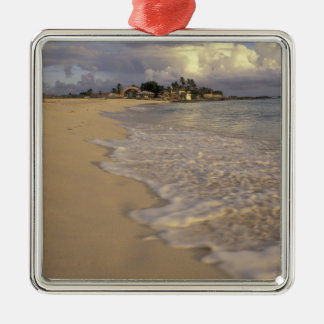 Caribbean, St. Martin (St. Maarten). Maho Bay Metal Ornament