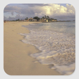 Caribbean, St. Martin (St. Maarten). Maho Bay Square Sticker