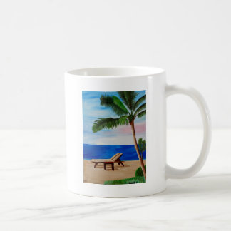 Caribbean Strand with Beach Chairs Coffee Mug