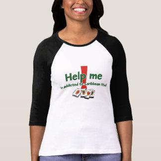 Caribbean Stud Poker ladies' raglan T-shirt