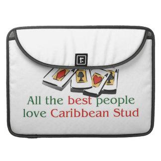 Caribbean Stud Poker Lover's macbook sleeves