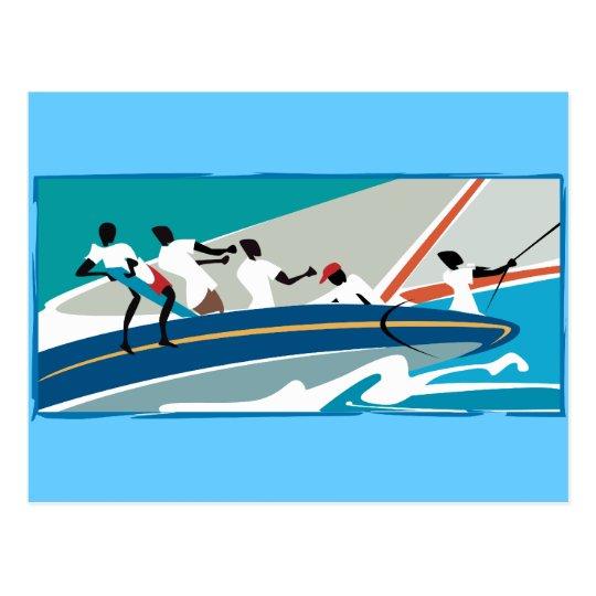 Caribbean Summer Sail Postcard