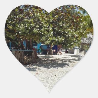caribbean summer heart sticker