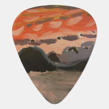 Caribbean Sunset Guitar Pick by EpicLuisArt at Zazzle