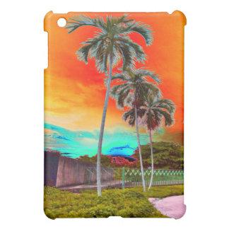 caribbean sunset pop art iPad mini case