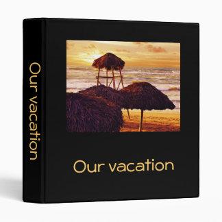 Caribbean sunset vacation memories binder