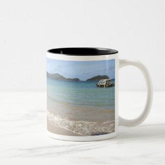 Caribbean - Tobago - Beach along Atlantic Two-Tone Coffee Mug