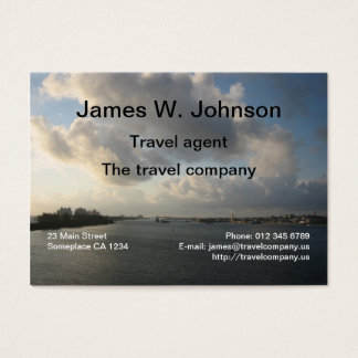 Caribbean travel business card