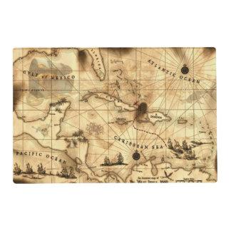 Caribbean Treasure Map Placemat