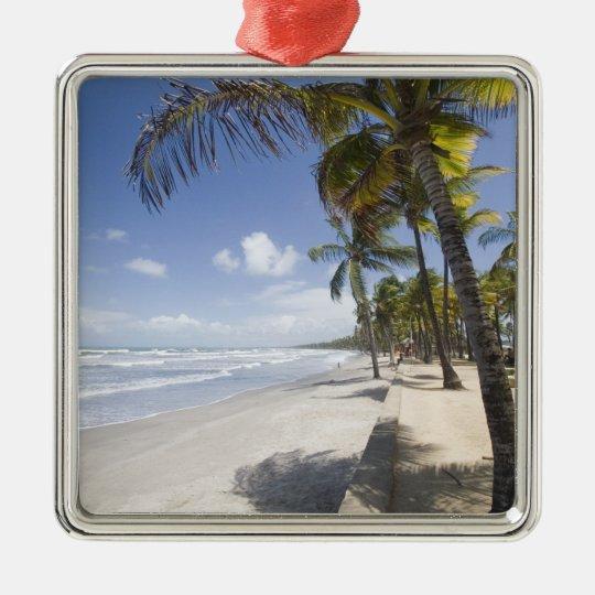 Caribbean - Trinidad - Manzanilla Beach on Metal Ornament