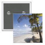Caribbean - Trinidad - Manzanilla Beach on Pinback Button