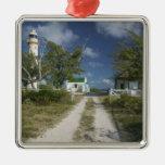 Caribbean, TURKS & CAICOS, Grand Turk Island, 3 Square Metal Christmas Ornament
