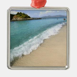 Caribbean, U.S. Virgin Islands, St. John, Square Metal Christmas Ornament