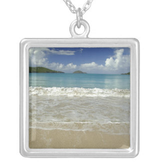 Caribbean, U.S. Virgin Islands, St.Thomas, 6 Silver Plated Necklace