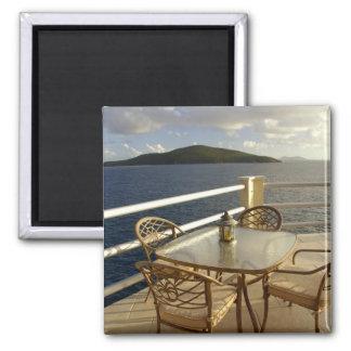 Caribbean, U.S. Virgin Islands, St. Thomas. View 2 Inch Square Magnet