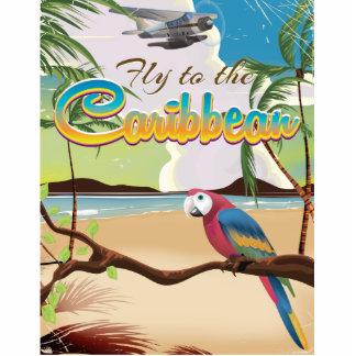 Caribbean Vintage Tropical island Parrot poster Cutout