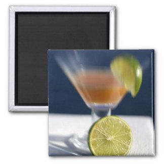 Caribbean, Virgin Islands. Tropical rum punch, 2 Inch Square Magnet